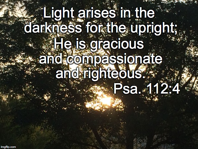 Light arises in the darkness for the upright; He is gracious and compassionate and righteous. Psa. 112:4 | image tagged in arise | made w/ Imgflip meme maker