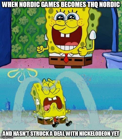 spongebob happy and sad imgflip