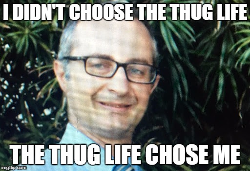 I DIDN'T CHOOSE THE THUG LIFE THE THUG LIFE CHOSE ME | image tagged in dr stear | made w/ Imgflip meme maker