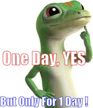 Got An Idea | One Day, YES But Only For 1 Day ! | image tagged in got an idea | made w/ Imgflip meme maker