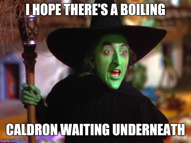 Memes | I HOPE THERE'S A BOILING CALDRON WAITING UNDERNEATH | image tagged in memes | made w/ Imgflip meme maker