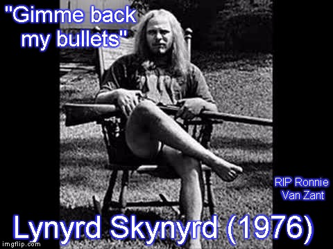 "Ronnie Van Zant - Lynyrd Skynyrd | ""Gimme back my bullets"" Lynyrd Skynyrd (1976) RIP Ronnie Van Zant 