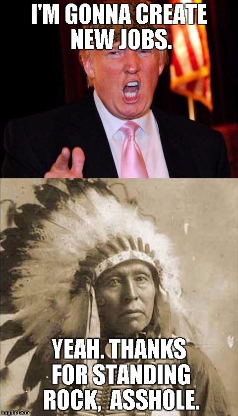 Donald Trump and Native American - Imgflip