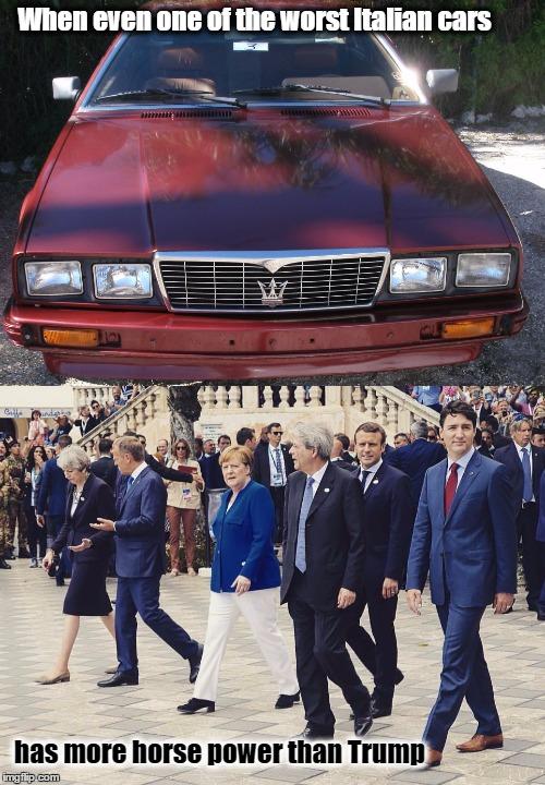 Maserati Golf Cart >> Maserati Bi-turbo - More Horse Power than Trump - Imgflip