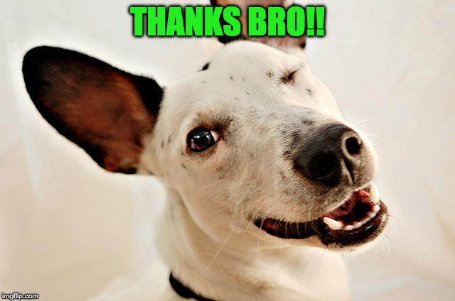 THANKS BRO!! | made w/ Imgflip meme maker