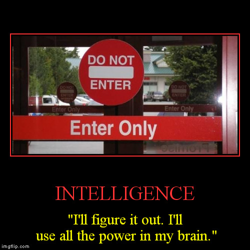 "INTELLIGENCE | ""I'll figure it out. I'll use all the power in my brain."" 