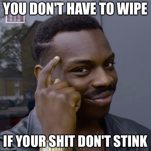 You don't have to worry  | YOU DON'T HAVE TO WIPE IF YOUR SHIT DON'T STINK | image tagged in you don't have to worry | made w/ Imgflip meme maker