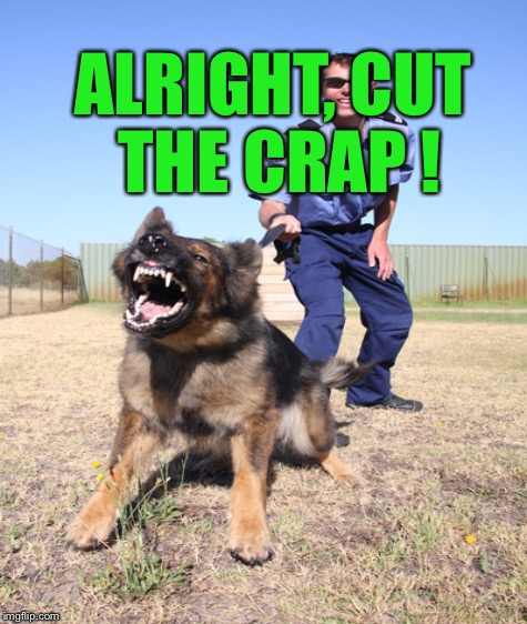 ALRIGHT, CUT THE CRAP ! | made w/ Imgflip meme maker