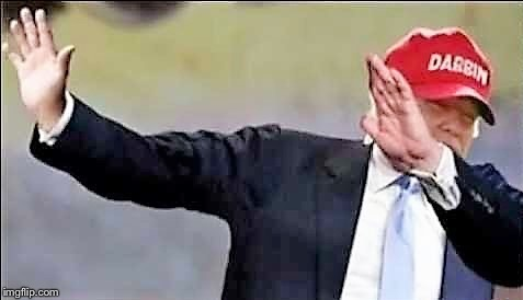 . | image tagged in donald trump dab | made w/ Imgflip meme maker