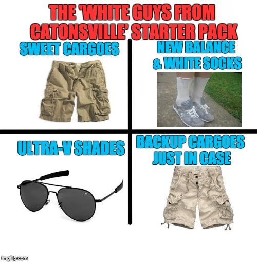 basic white guy starter pack