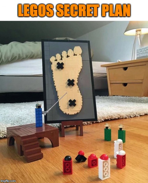 While you're out | LEGOS SECRET PLAN | image tagged in legos | made w/ Imgflip meme maker
