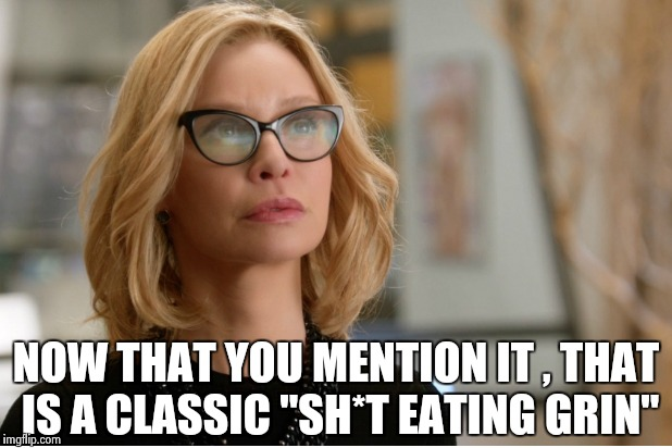 "Callista Flockhart | NOW THAT YOU MENTION IT , THAT IS A CLASSIC ""SH*T EATING GRIN"" 