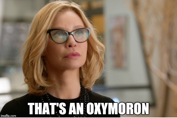 Callista Flockhart | THAT'S AN OXYMORON | image tagged in callista flockhart | made w/ Imgflip meme maker