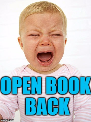 OPEN BOOK BACK | made w/ Imgflip meme maker