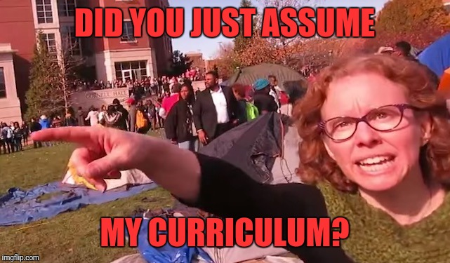 DID YOU JUST ASSUME MY CURRICULUM? | made w/ Imgflip meme maker