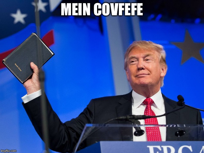 Covfefe | MEIN COVFEFE | image tagged in mein covfefe,donald trump,memes | made w/ Imgflip meme maker