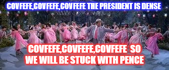 Trump is full of Shipoopi ! | COVFEFE,COVFEFE,COVFEFE THE PRESIDENT IS DENSE COVFEFE,COVFEFE,COVFEFE  SO WE WILL BE STUCK WITH PENCE | image tagged in donald trump | made w/ Imgflip meme maker