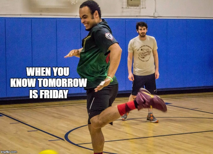 Thursday  |  WHEN YOU KNOW TOMORROW IS FRIDAY | image tagged in friday,thrusday,happy,dance,sports,smiling | made w/ Imgflip meme maker
