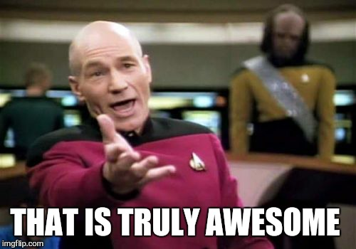 Picard Wtf Meme | THAT IS TRULY AWESOME | image tagged in memes,picard wtf | made w/ Imgflip meme maker