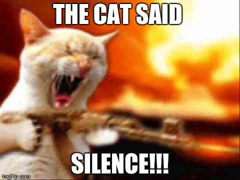 THE CAT SAID SILENCE!!! | made w/ Imgflip meme maker
