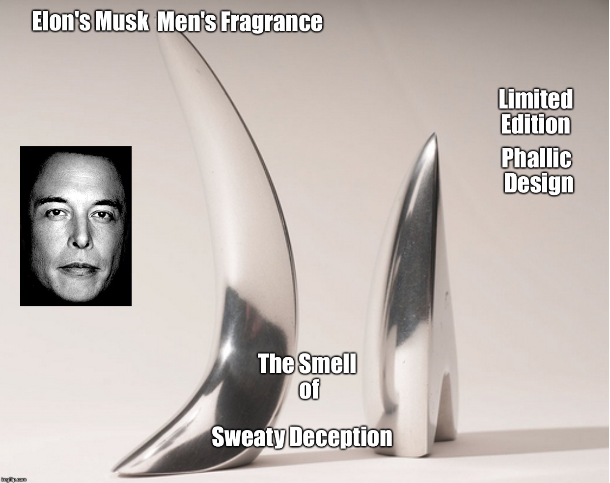 Elon's Musk Men's Fragrance  | Elon's Musk Men's Fragrance The Smell of Sweaty Deception Limited Edition Phallic Design | image tagged in memes,elon musk | made w/ Imgflip meme maker