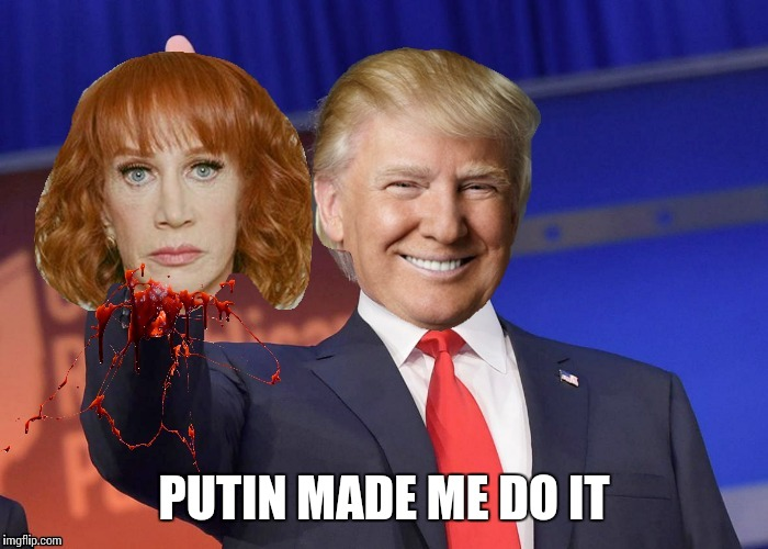 Thanks Putin! | PUTIN MADE ME DO IT | image tagged in memes,trump | made w/ Imgflip meme maker