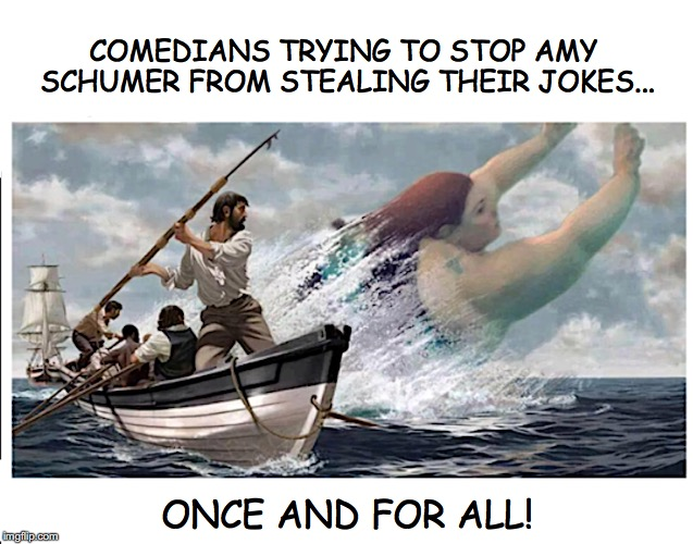 A Whale of a Task | COMEDIANS TRYING TO STOP AMY SCHUMER FROM STEALING THEIR JOKES... ONCE AND FOR ALL! | image tagged in amy schumer,comedy | made w/ Imgflip meme maker