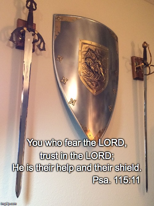 Shield | You who fear the LORD, trust in the LORD; He is their help and their shield. Psa. 115:11 | image tagged in shield | made w/ Imgflip meme maker