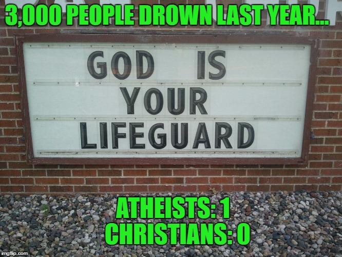 Funny Lifeguard Meme : God is your lifeguard really bro imgflip