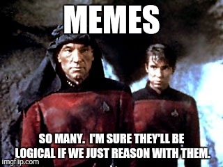 MEMES SO MANY.  I'M SURE THEY'LL BE LOGICAL IF WE JUST REASON WITH THEM. | made w/ Imgflip meme maker