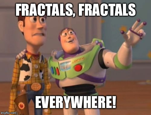 X, X Everywhere Meme | FRACTALS, FRACTALS EVERYWHERE! | image tagged in memes,x,x everywhere,x x everywhere | made w/ Imgflip meme maker