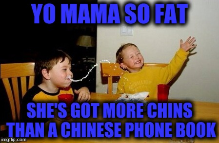 Yo Mamas So Fat Meme | YO MAMA SO FAT SHE'S GOT MORE CHINS THAN A CHINESE PHONE BOOK | image tagged in memes,yo mamas so fat | made w/ Imgflip meme maker