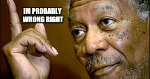 Married with opinions  | IM PROBABLY WRONG RIGHT | image tagged in he is right you know,memes,funny memes,morgan freeman president,yes | made w/ Imgflip meme maker