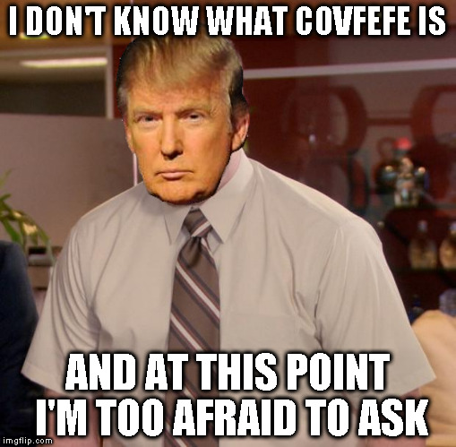 Covfefe = Distraction/Look over there for awhile | I DON'T KNOW WHAT COVFEFE IS AND AT THIS POINT I'M TOO AFRAID TO ASK | image tagged in memes,afraid to ask andy,donald trump approves,hillary clinton for prison hospital 2016,covfefe,covfefe week | made w/ Imgflip meme maker