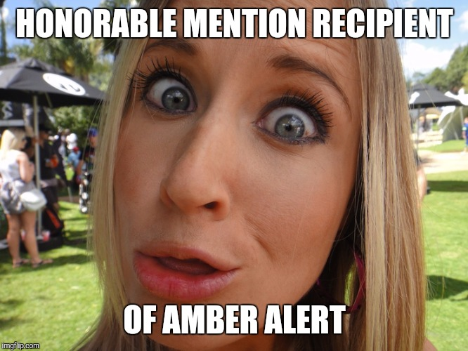 HONORABLE MENTION RECIPIENT OF AMBER ALERT | image tagged in memes | made w/ Imgflip meme maker