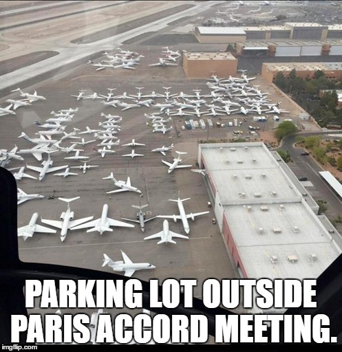 PARKING LOT OUTSIDE PARIS ACCORD MEETING. | made w/ Imgflip meme maker
