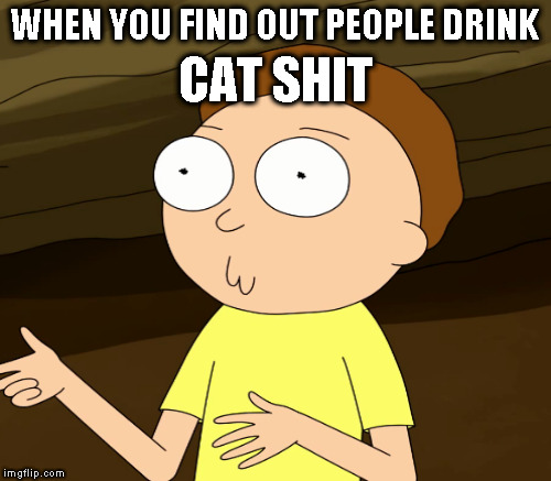 WHEN YOU FIND OUT PEOPLE DRINK CAT SHIT | made w/ Imgflip meme maker