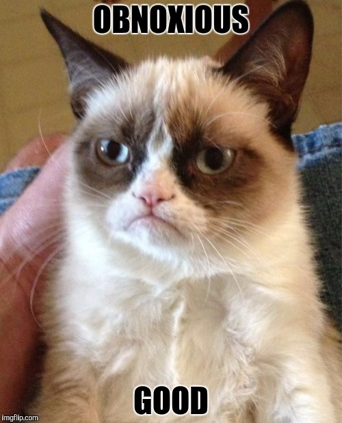 Grumpy Cat Meme | OBNOXIOUS GOOD | image tagged in memes,grumpy cat | made w/ Imgflip meme maker