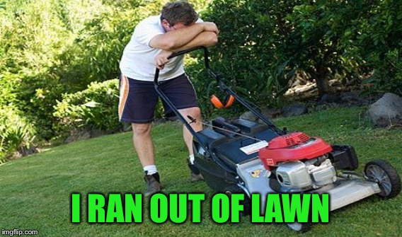 I RAN OUT OF LAWN | made w/ Imgflip meme maker