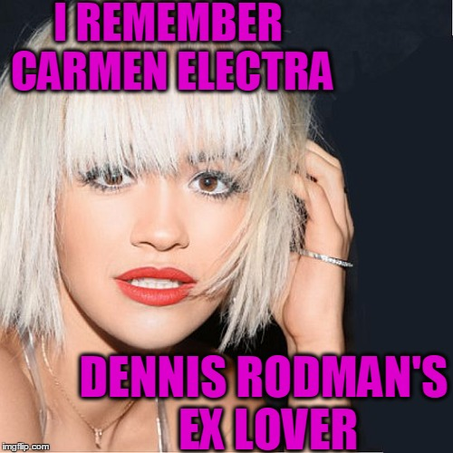 ditz | I REMEMBER CARMEN ELECTRA DENNIS RODMAN'S EX LOVER | image tagged in ditz | made w/ Imgflip meme maker