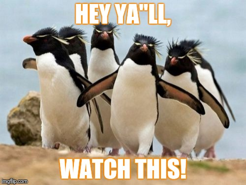 "Penguin Gang Meme | HEY YA""LL, WATCH THIS! 