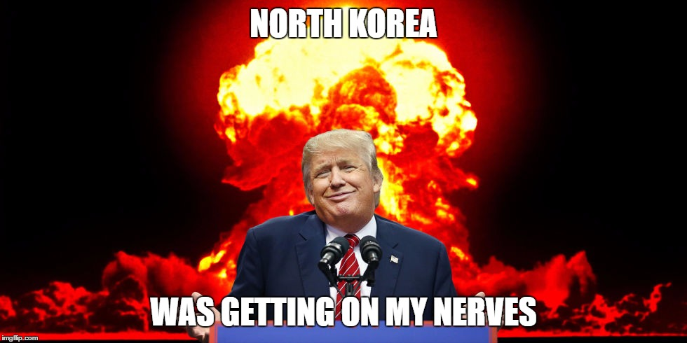 NORTH KOREA WAS GETTING ON MY NERVES | image tagged in stan | made w/ Imgflip meme maker