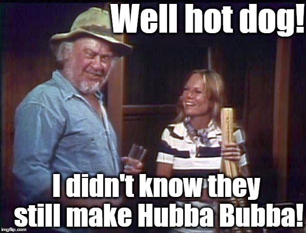 Well hot dog! I didn't know they still make Hubba Bubba! | made w/ Imgflip meme maker