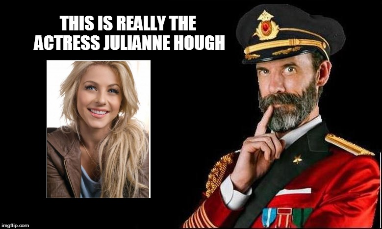 Captain Obvious sez: | THIS IS REALLY THE ACTRESS JULIANNE HOUGH | image tagged in funny | made w/ Imgflip meme maker