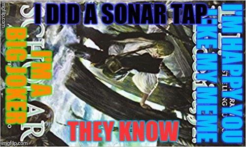 I DID A SONAR TAP. THEY KNOW | made w/ Imgflip meme maker