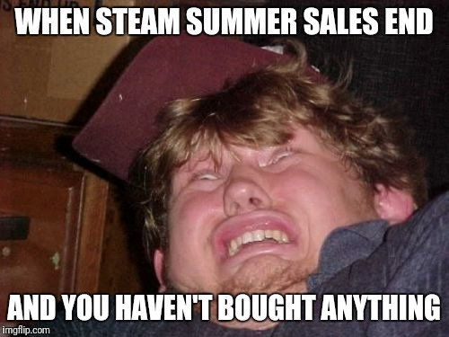 WTF |  WHEN STEAM SUMMER SALES END; AND YOU HAVEN'T BOUGHT ANYTHING | image tagged in memes,wtf | made w/ Imgflip meme maker