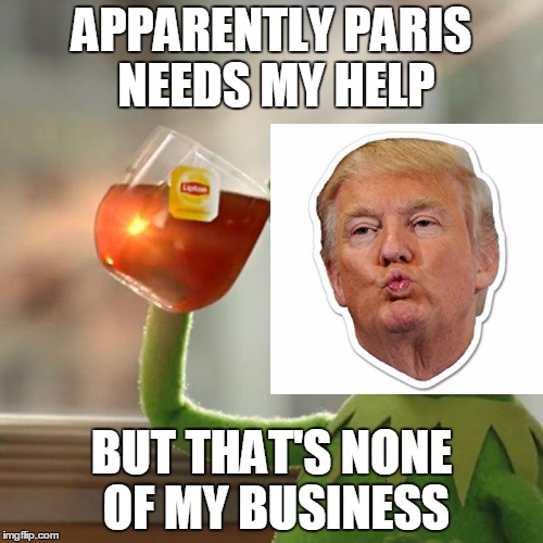 But Thats None Of My Business Meme | APPARENTLY PARIS NEEDS MY HELP BUT THAT'S NONE OF MY BUSINESS | image tagged in memes,but thats none of my business,kermit the frog | made w/ Imgflip meme maker