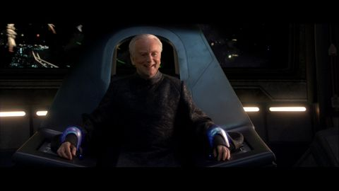 Emperor Palpatine In Stun Cuffs In Revenge Of The Sith Blank Template Imgflip