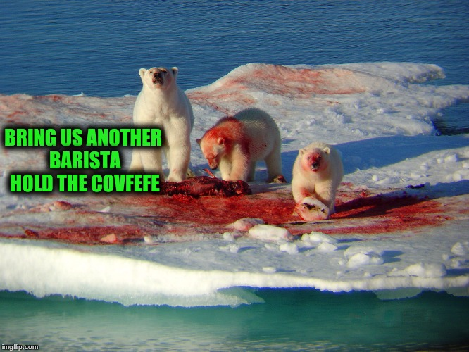 BRING US ANOTHER BARISTA HOLD THE COVFEFE | made w/ Imgflip meme maker