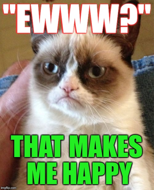 "Grumpy Cat Meme | ""EWWW?"" THAT MAKES ME HAPPY 